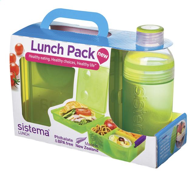 Image pour Sistema boîte à tartines et gourde Lunch Pack 480 ml vert à partir de DreamLand