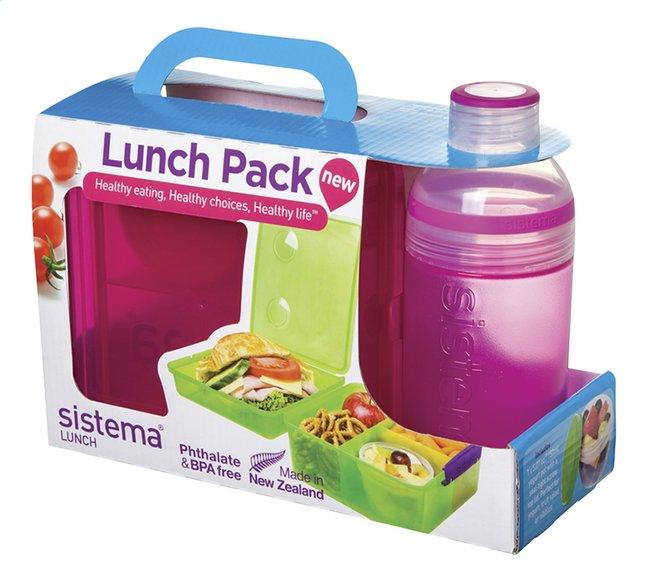 Image pour Sistema boîte à tartines et gourde Lunch Pack 480 ml rose à partir de DreamLand