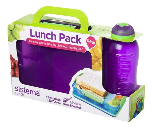 Image pour Sistema boîte à tartines et gourde Lunch Pack 330 ml mauve à partir de DreamLand