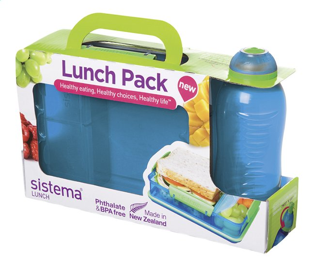 Afbeelding van Sistema brooddoos en drinkfles 330 ml Lunch Pack blauw from DreamLand