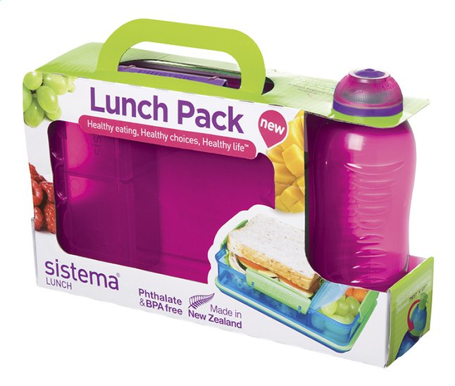 Afbeelding van Sistema brooddoos en drinkfles 330 ml Lunch Pack roze from DreamLand