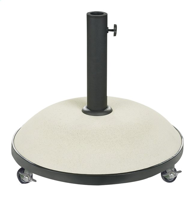 Pied de parasol béton 35 kg blanc