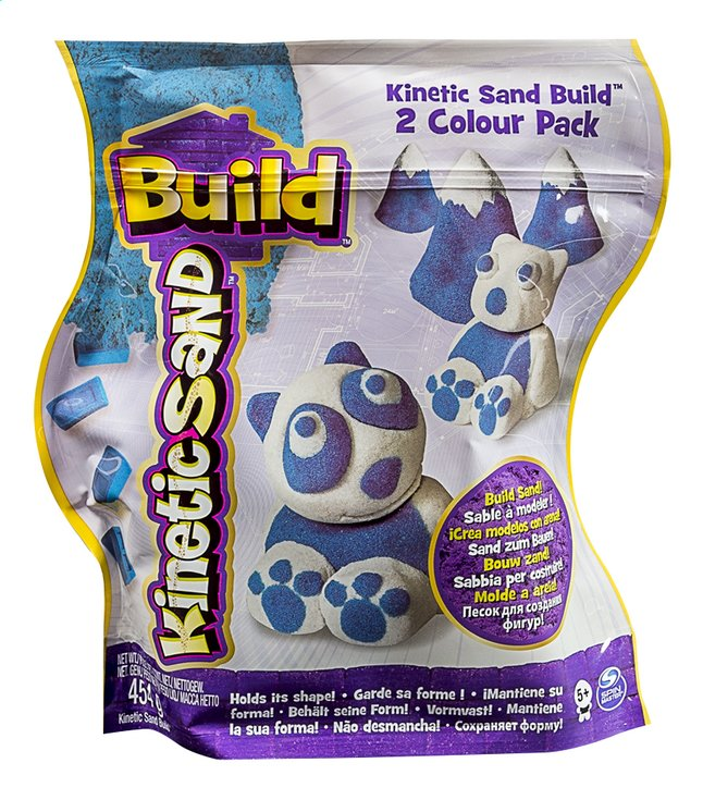 Afbeelding van Spin Master Kinetic Sand Build 2 Colour Pack wit/blauw from DreamLand