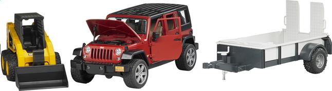 Afbeelding van Bruder jeep Wrangler + aanhangwagen en graafmachine from DreamLand