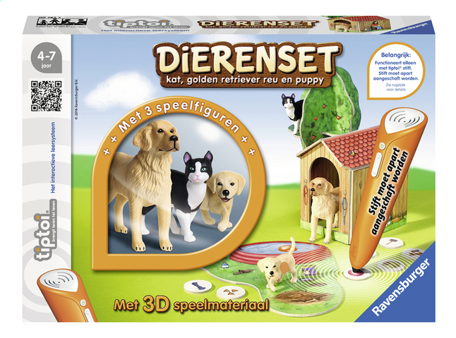 Afbeelding van Ravensburger Tiptoi Dierenset kat, golden retriever reu en puppy from DreamLand