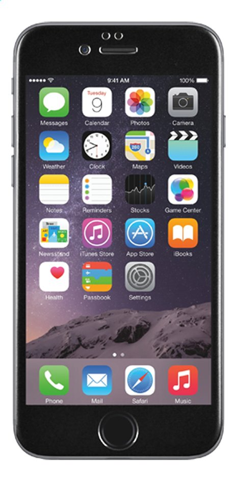 Afbeelding van bigben screen protector tempered glass voor iPhone 6 zwart from DreamLand