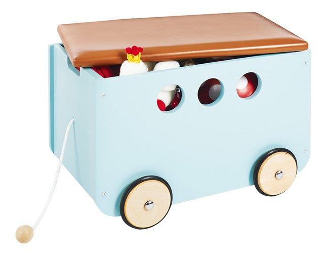 Pinolino coffre à jouets sur roulettes Jim menthe