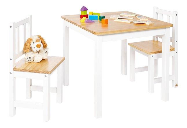 Pinolino table avec 2 chaises pour enfants Fenna blanc