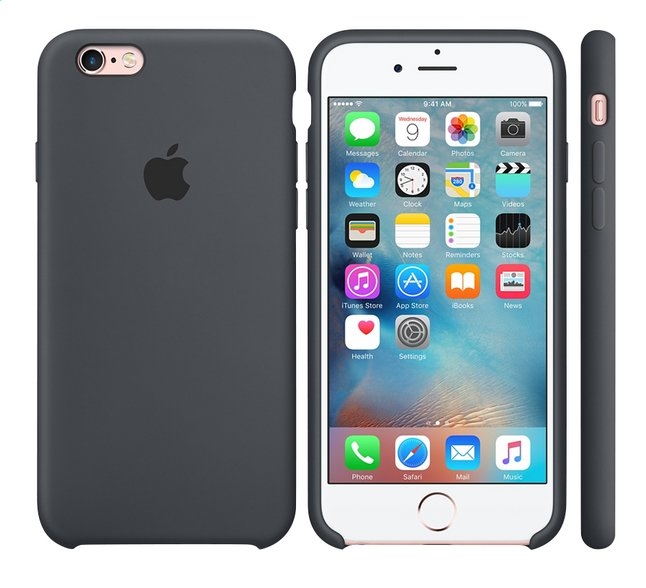 Afbeelding van Apple silicone cover in voor iPhone 6s grijs from DreamLand