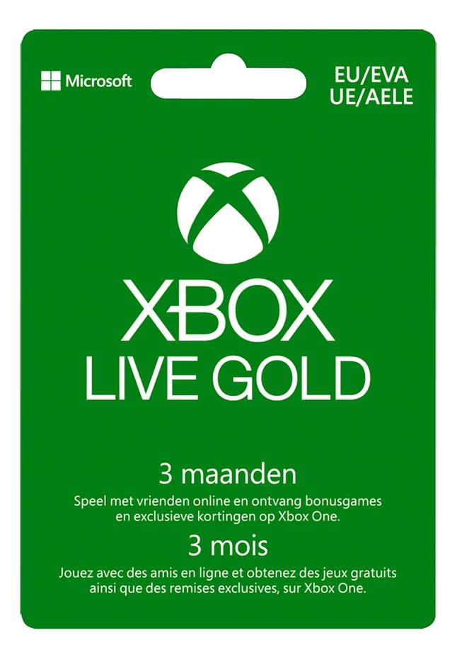 Gift Card Xbox Live Gold - lidmaatschap 3 maanden