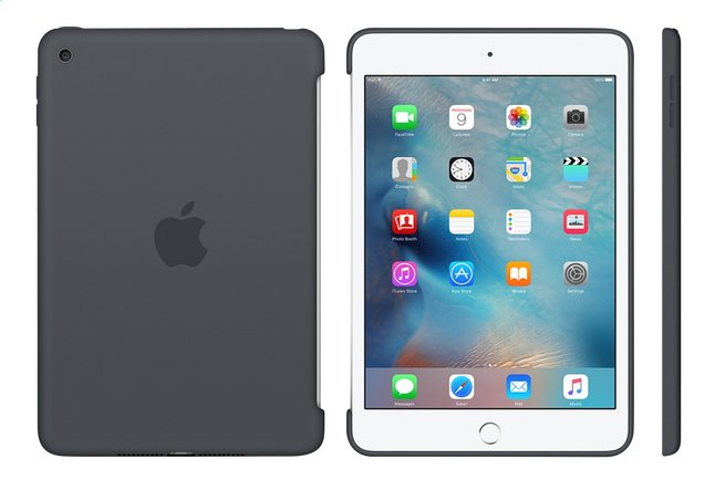 Afbeelding van Apple cover voor iPad Mini 4 silicone grijs from DreamLand