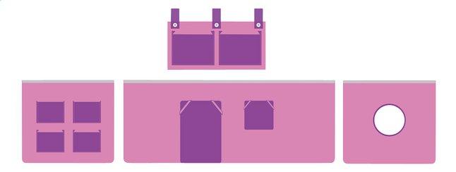 Image pour Rideau de jeu Pino rose/lilas à partir de DreamLand