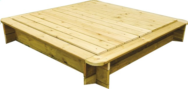 Image pour BnB Wood couvercle pour bac à sable carré 180 x 180 cm à partir de DreamLand