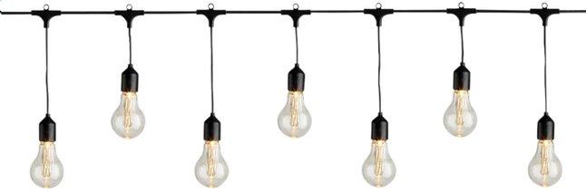 Guirlande lumineuse LED 20 lampes classique blanc chaud