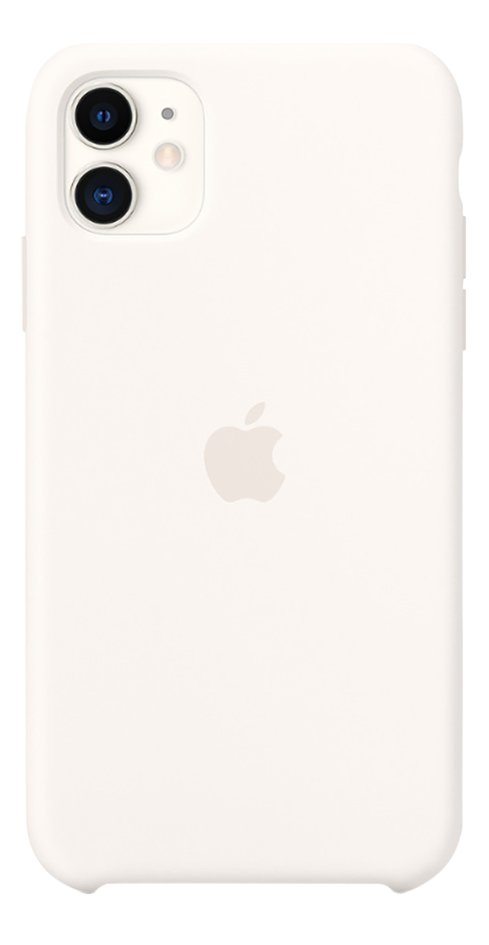 Apple coque en silicone pour iPhone 11 blanc