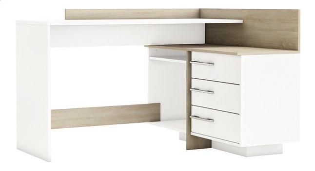 Demeyere meubles bureau thales blanc décor chêne dreamland