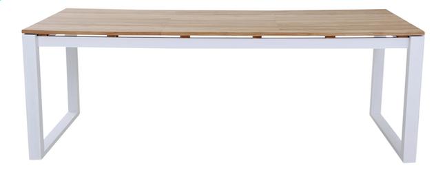 Table de jardin Selena blanc L 220 x Lg 100 cm | DreamLand