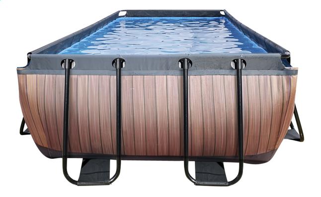 EXIT piscine Wood filtre à sable 5,40 x 2,50 m
