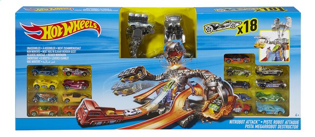 Image pour Hot Wheels set de jeu Nitrobot Attack 18 voitures à partir de DreamLand