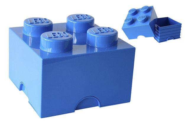 Afbeelding van LEGO kunststof opbergbox Storage Brick 6 l blauw from DreamLand