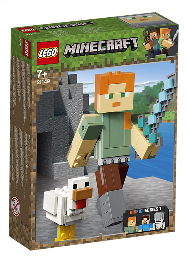 Afbeelding van LEGO Minecraft 21149 BigFig Alex met kip from DreamLand