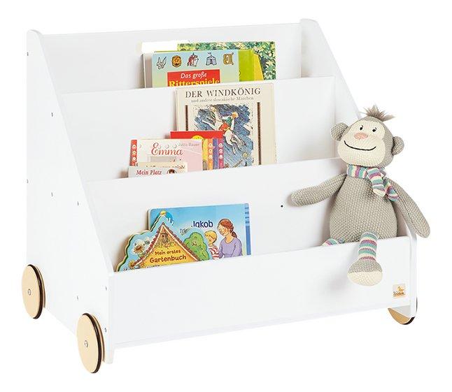 Pinolino étagère à livres sur roulettes Lasse