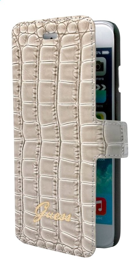 Afbeelding van bigben foliocover Guess voor iPhone 6/6s croco beige from DreamLand