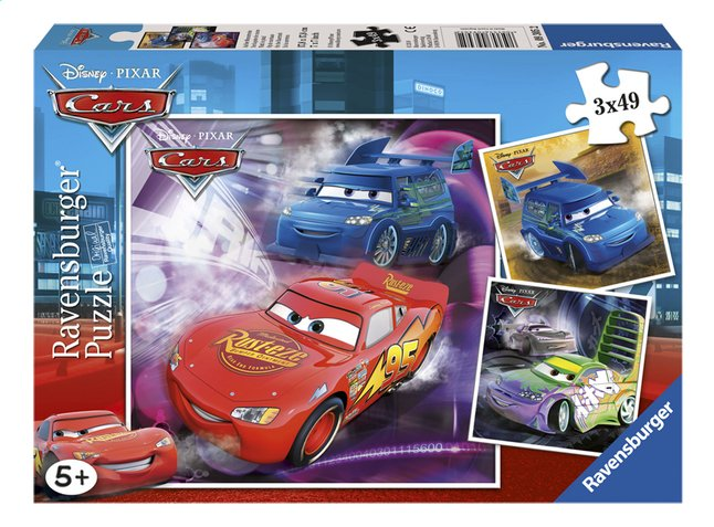 Afbeelding van Ravensburger puzzel 3-in-1 Cars from DreamLand