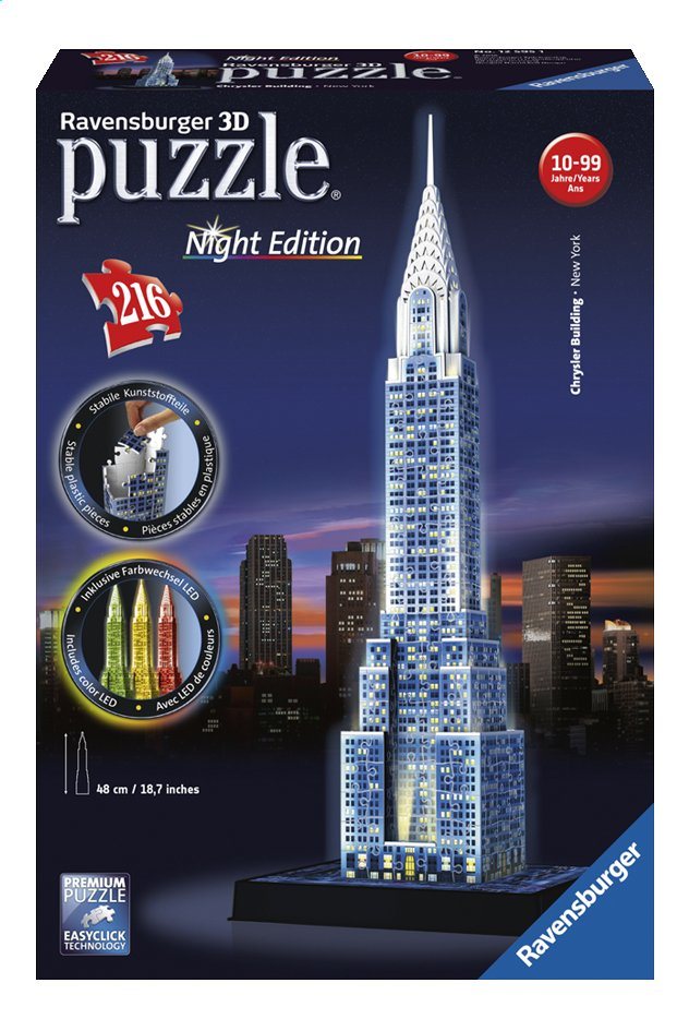 Afbeelding van Ravensburger 3D-puzzel Chrysler Building Night Edition from DreamLand