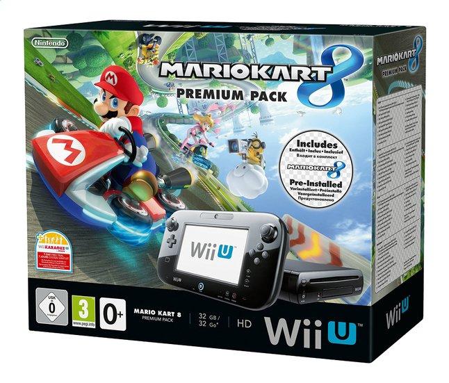 Afbeelding van Wii U console Premium Pack 32 GB zwart + pre-installed Mario Kart 8 NL/FR from DreamLand