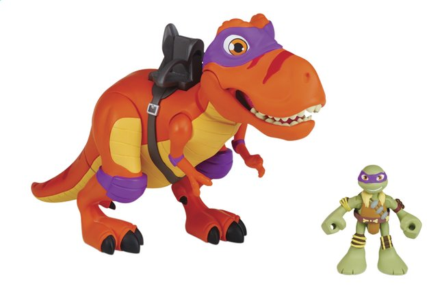Afbeelding van Set Teenage Mutant Ninja Turtles Half Shell-Heroes deluxe T-Rex with Donnie from DreamLand