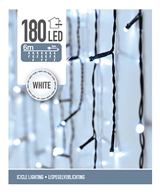 afbeelding van slingerverlichting led ijspegels 180 lampjes koud wit from dreamland