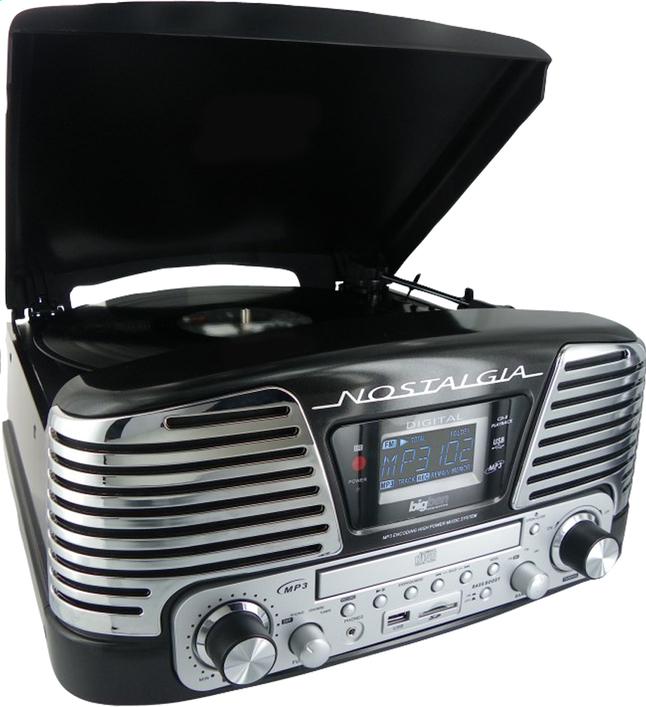 bigben radio lecteur cd tourne disques td79nm nostalgia noir dreamland. Black Bedroom Furniture Sets. Home Design Ideas
