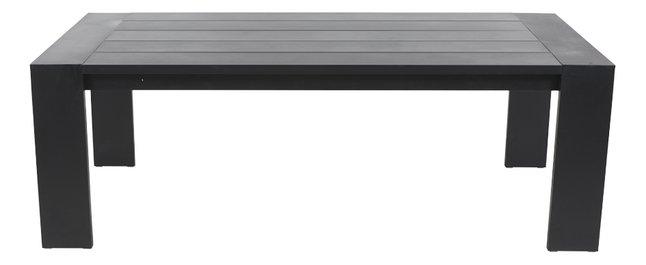 Table de jardin Ibiza noir 220 x 100 cm