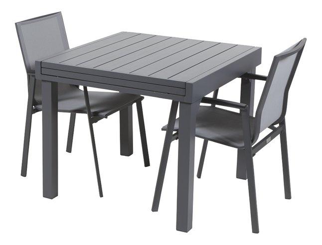 Ensemble de jardin Modulo/Bondi anthracite - 2 chaises