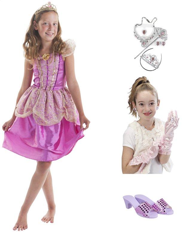 Image pour DreamLand déguisement de princesse rose avec accessoires taille 146 à partir de DreamLand