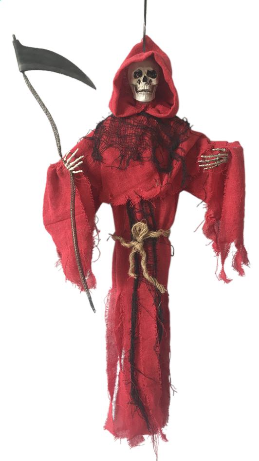 Afbeelding van Skelet met zeis rood from DreamLand