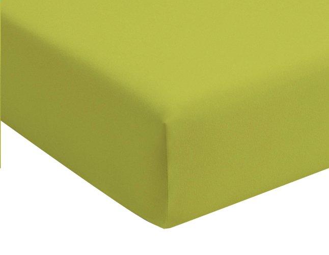 Image pour Romanette Drap-housse lime jersey double 90 x 200 cm à partir de DreamLand