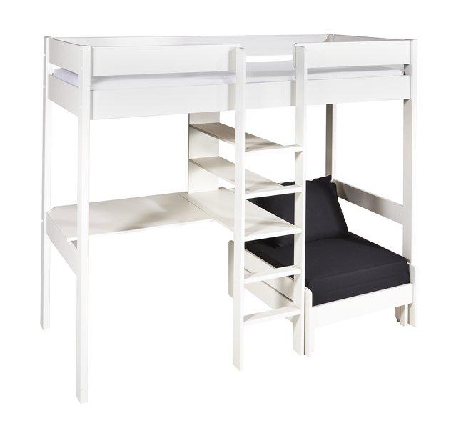 Image pour Lit surélevé/bureau Pino blanc avec siège convertible à partir de DreamLand