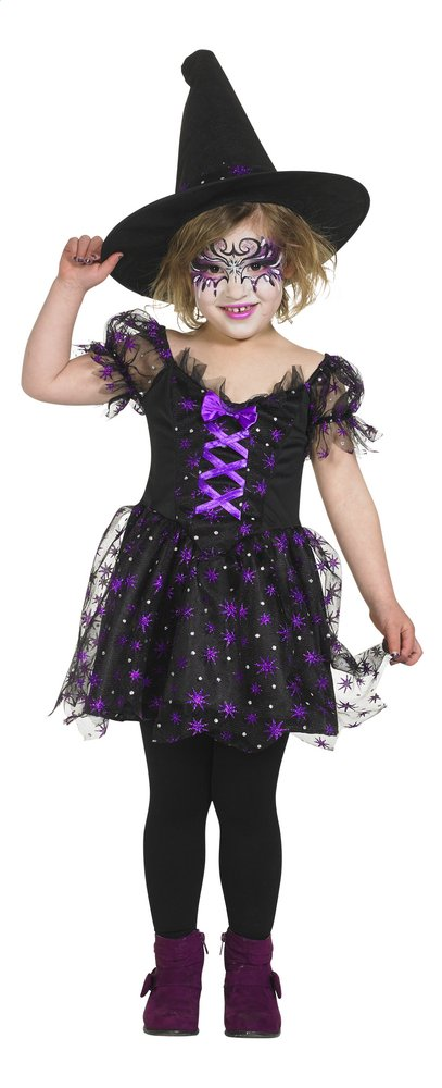 Afbeelding van Verkleedpak heks paars en zwart maat 110 from DreamLand