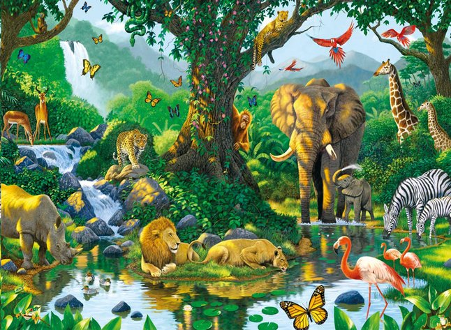 Afbeelding van Ravensburger puzzel Jungle Harmony from DreamLand