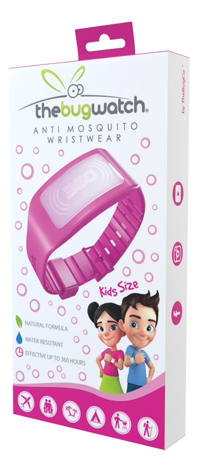 Afbeelding van The Bug Watch antimug armband Kids roze from DreamLand