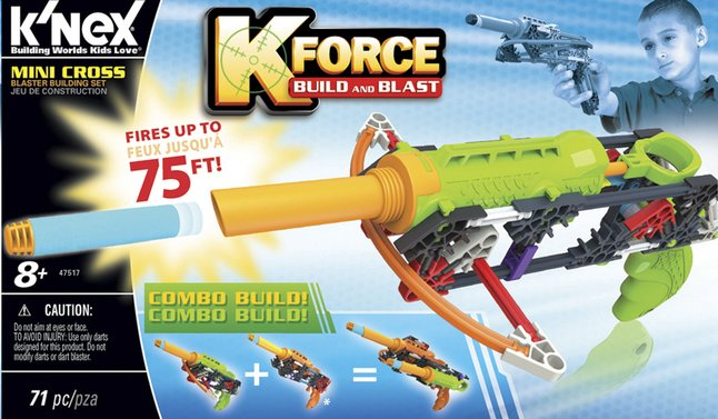 Afbeelding van K'nex K-Force Build and Blast Mini Cross from DreamLand