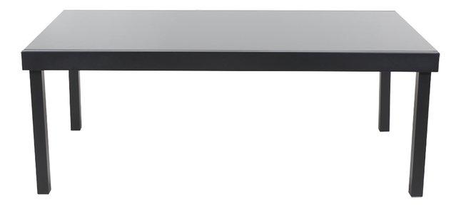 Table de jardin Modulo noir 200 x 105 cm