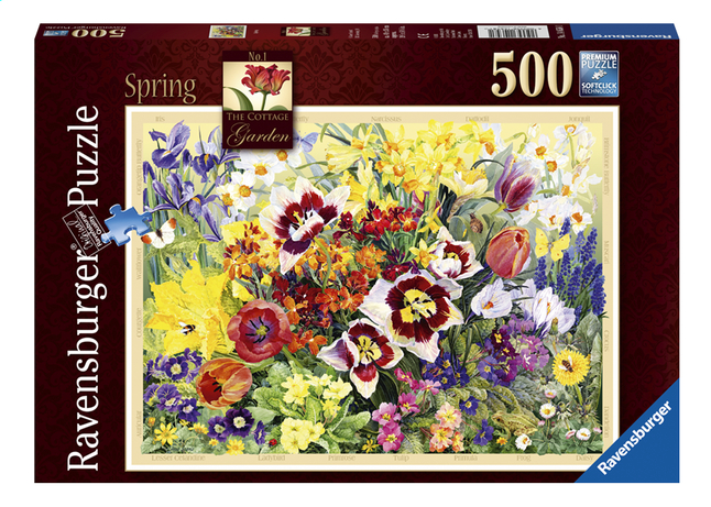 Afbeelding van Ravensburger puzzel The Cottage Garden in Spring from DreamLand