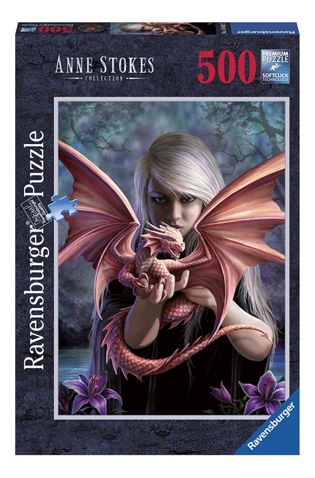 Afbeelding van Ravensburger puzzel Anne Stokes: Het drakenmeisje from DreamLand