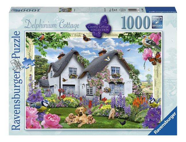 Afbeelding van Ravensburger puzzel Delphinium Cottage from DreamLand