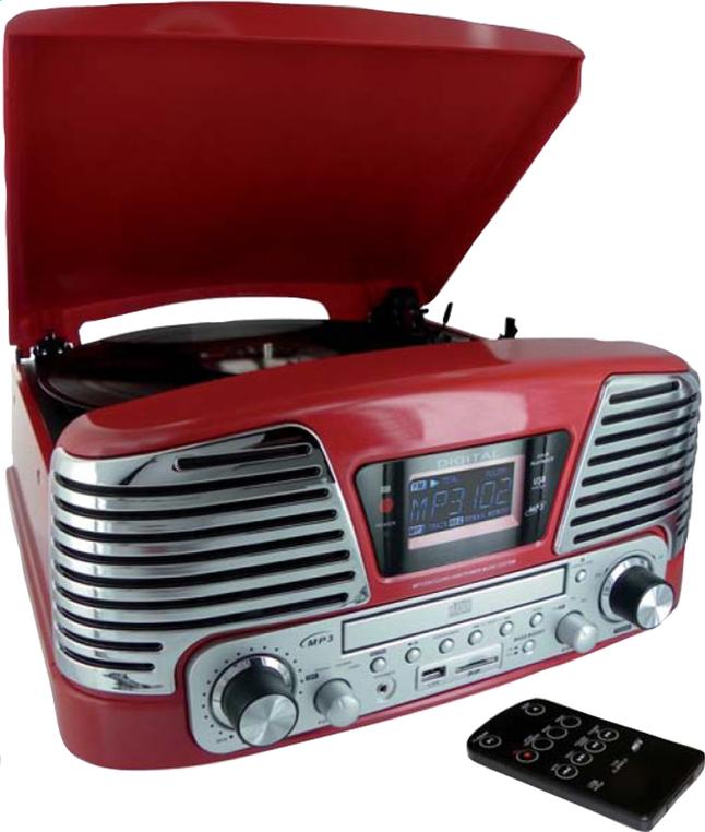 Image pour Bigben radio/lecteur CD/tourne-disques TD79RM Nostalgia rouge à partir de DreamLand