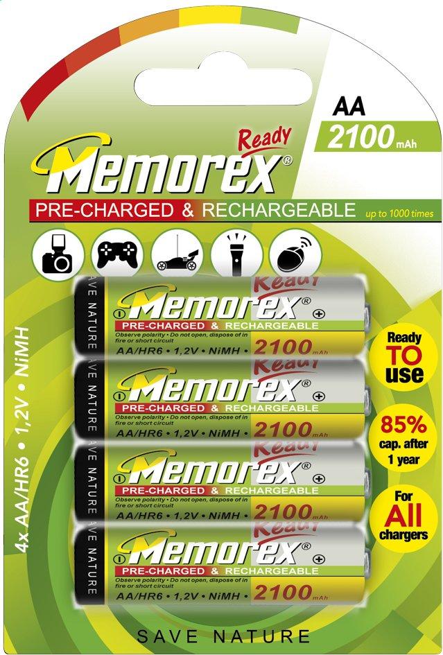 Afbeelding van Memorex 4 AA-batterijen Ready herlaadbaar from DreamLand