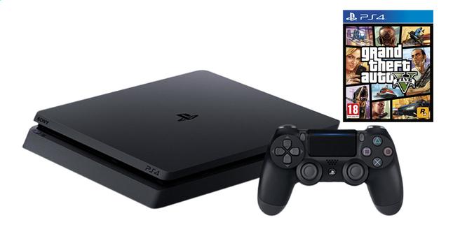 Image pour PS4 console Slim 500 Go +  Grand Theft Auto 5 ANG à partir de DreamLand